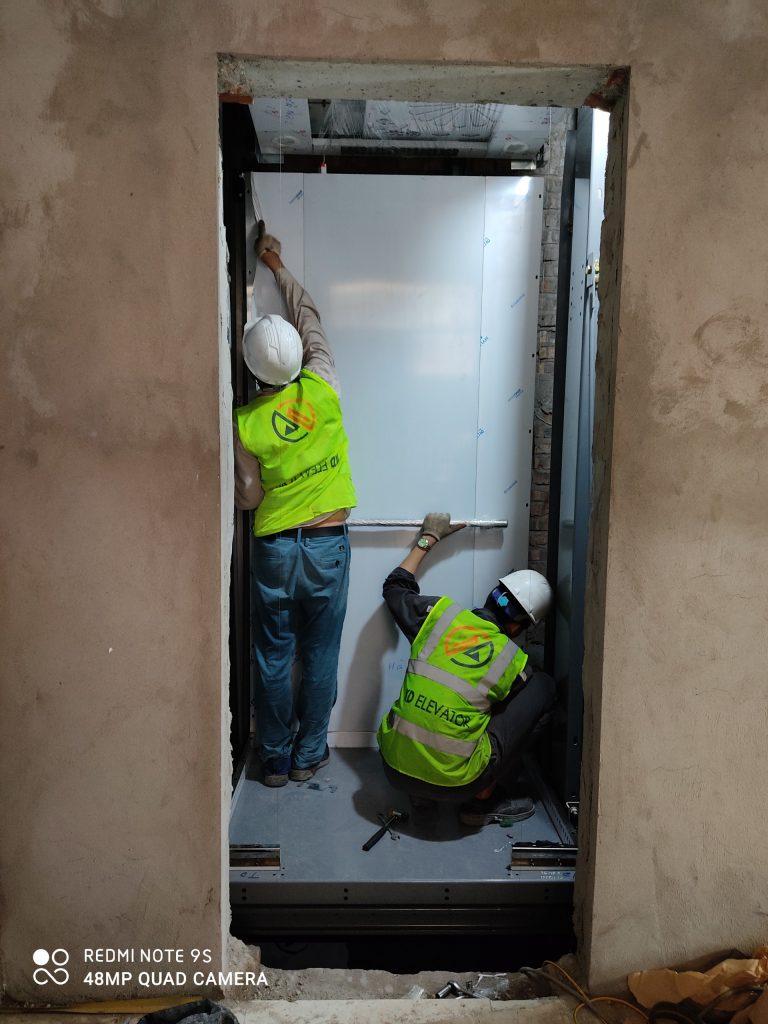 Lắp vách buồn thang máy 350Kg